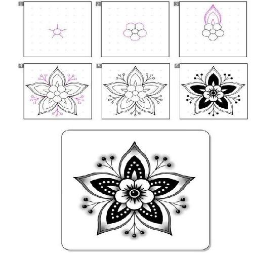 نقاشی و طراحی گل